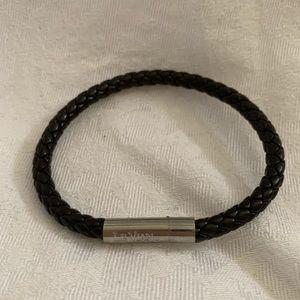 Le Vian bracelet with brown leather strap